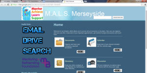 Intranet designed for client M.A.L.S Merseyside