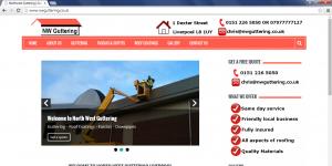 A website we designed for North West Guttering