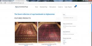 Shopping website we designed for Afghan Handmade Rugs