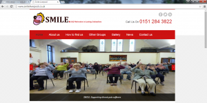 Charity website designed for SMILE Liverpool