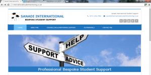 A website we designed for Sanadi International