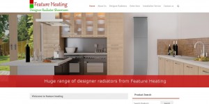 Website we designed for Feature Heating