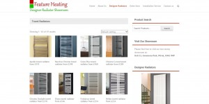 Feature heating websites shopping page